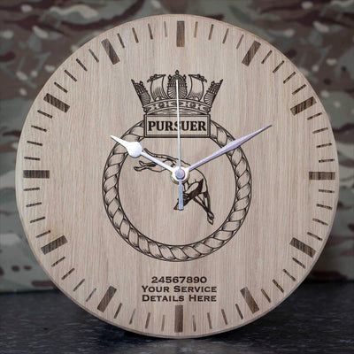 Pursuer Oak Clock