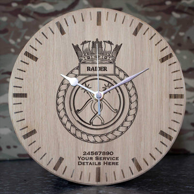 Raider Oak Clock