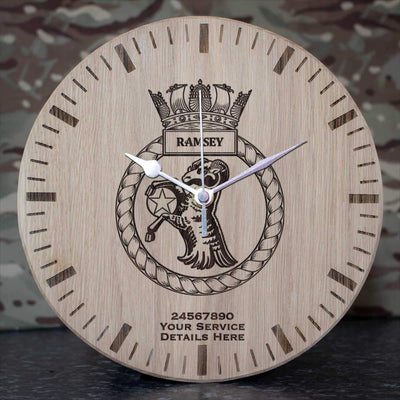 Ramsey Oak Clock