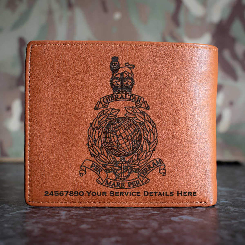 Royal Marines Globe and Laurel Leather Wallet