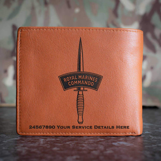 Royal Marines Dagger Leather Wallet