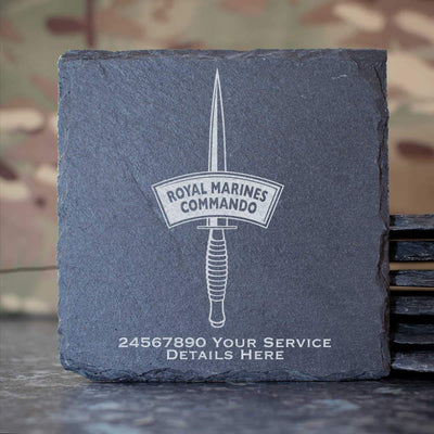 Royal Marines Dagger Slate Coaster