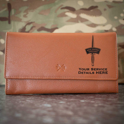 Royal Marines Dagger Leather Purse