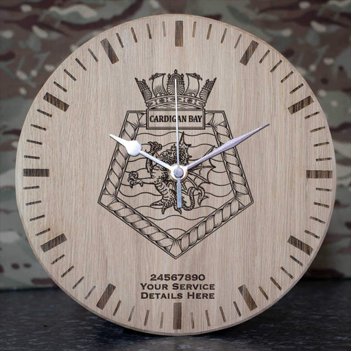 Cardigan Bay Oak Clock