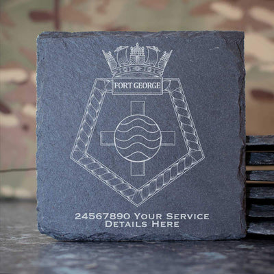 Fort George Slate Coaster