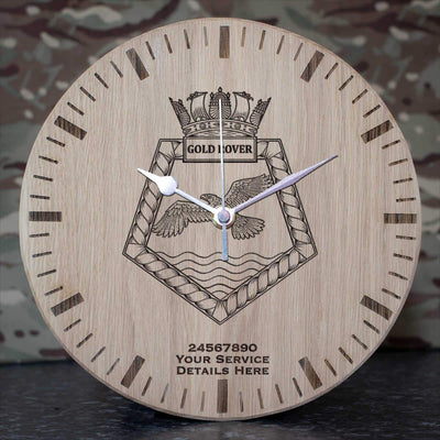 Gold Rover Oak Clock
