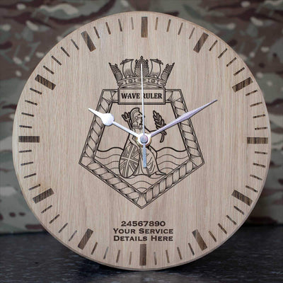 Wave Ruler Oak Clock