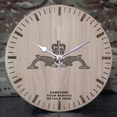 Submariners Dolphins Oak Clock