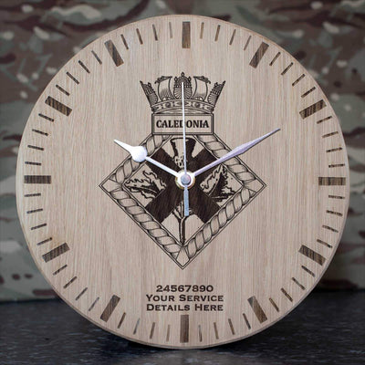 Caledonia Oak Clock