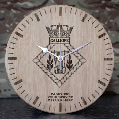 Calliope Oak Clock