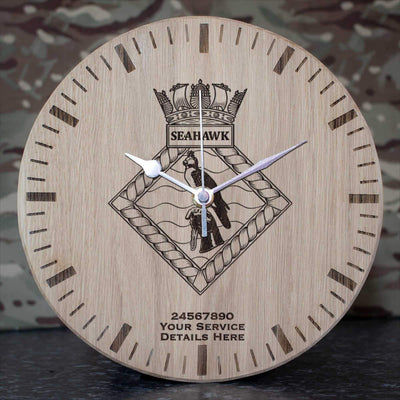 Seahawk Oak Clock