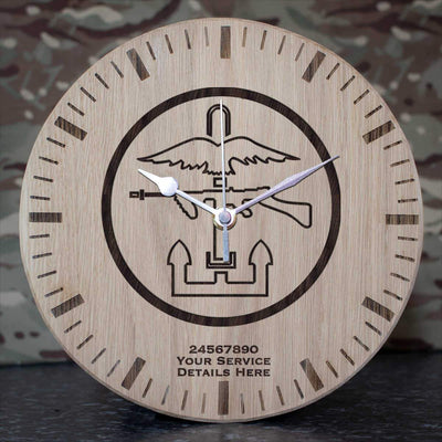 Combined Ops Oak Clock