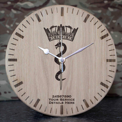 Medical Snake Oak Clock