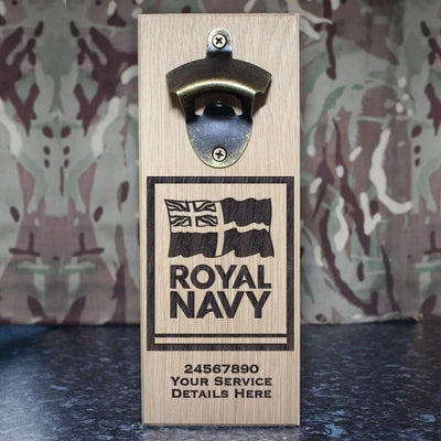 Navy Logo Wall-Mounted Bottle Opener
