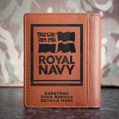 Navy Logo Credit Card Wallet