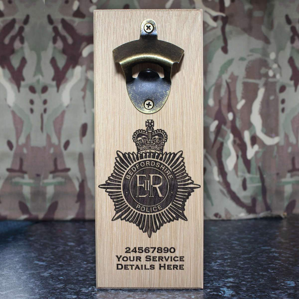 Bedfordshire Police Wall-Mounted Bottle Opener