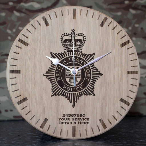 British Transport Police Oak Clock