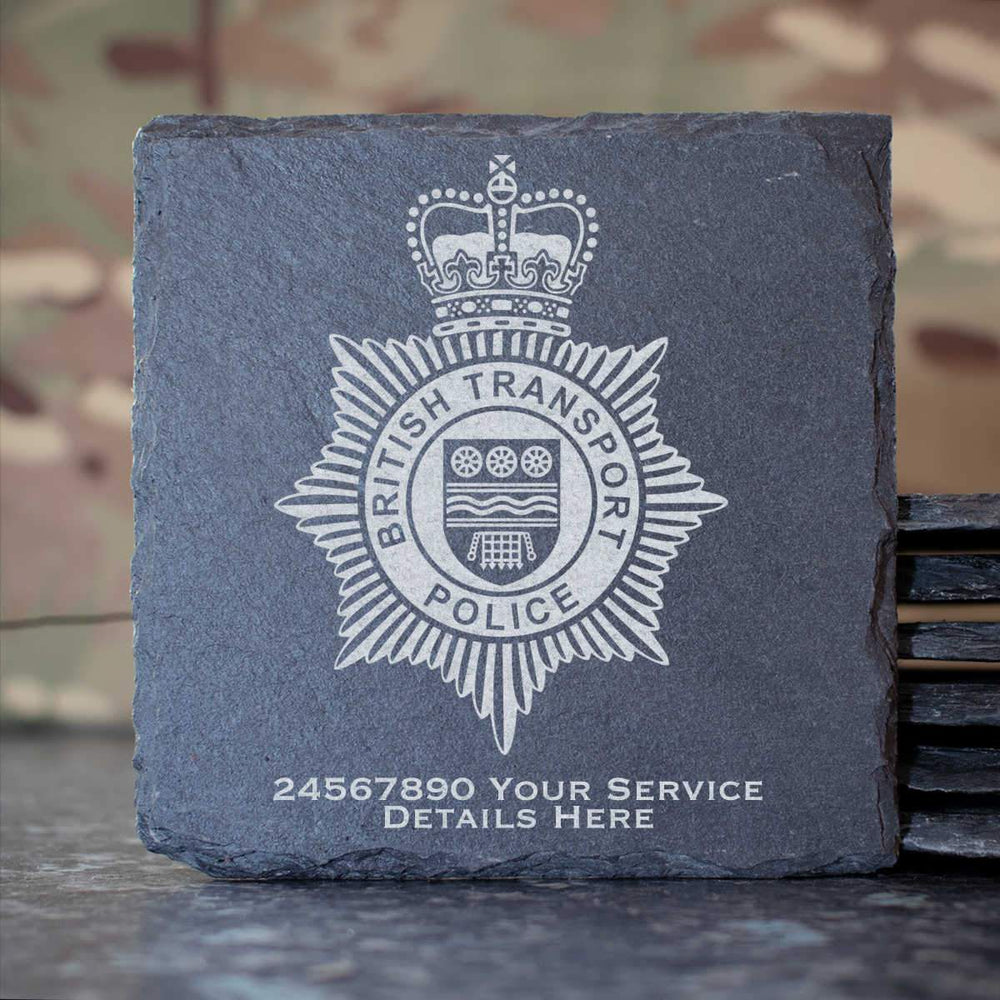 British Transport Police Slate Coaster