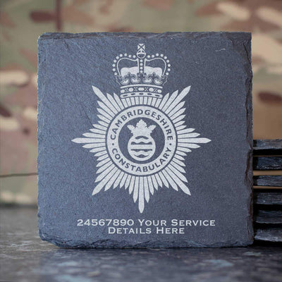 Cambridgeshire Constabulary Slate Coaster