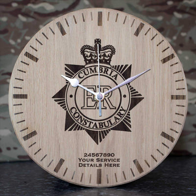 Cumbria Police Oak Clock