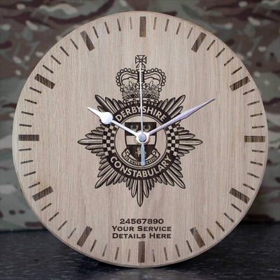 Derbyshire Constabulary Oak Clock