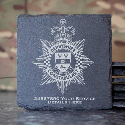 Derbyshire Constabulary Slate Coaster