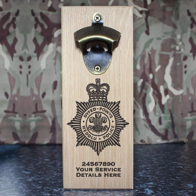 Dyfed Powys Police Wall-Mounted Bottle Opener