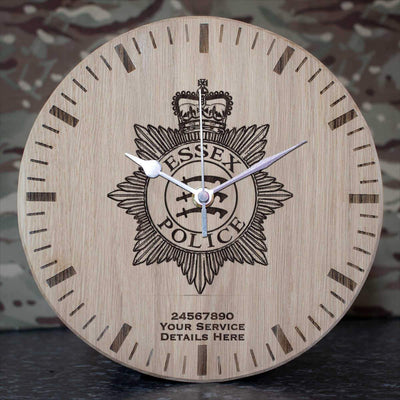 Essex Police Oak Clock