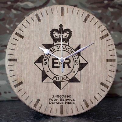 Greater Manchester Police Oak Clock