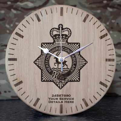 Hertfordshire Constabulary Oak Clock