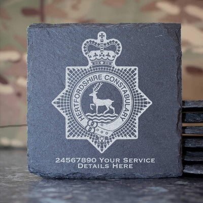 Hertfordshire Constabulary Slate Coaster