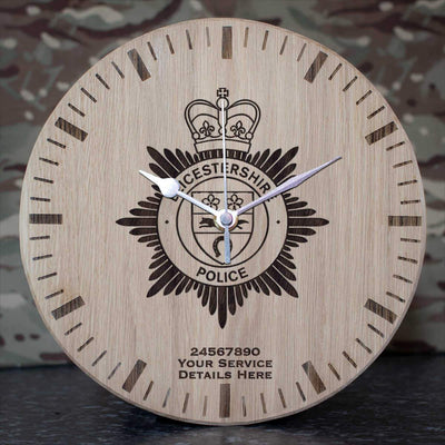 Leicestershire Police Oak Clock