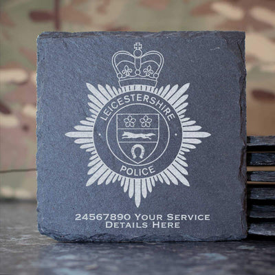 Leicestershire Police Slate Coaster
