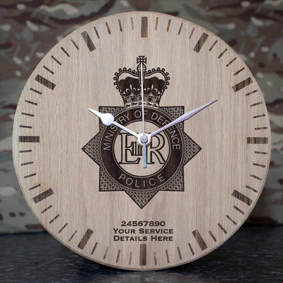 Ministry of Defence Police Oak Clock