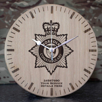 Norfolk Constabulary Oak Clock