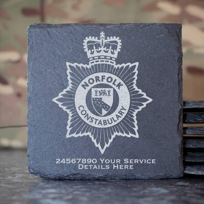 Norfolk Constabulary Slate Coaster