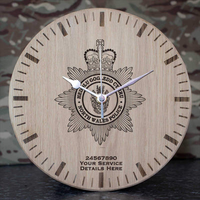 North Wales Police Oak Clock