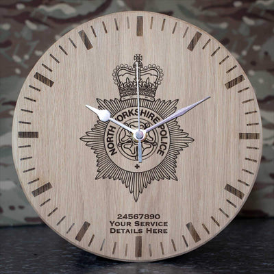 North Yorkshire Police Oak Clock