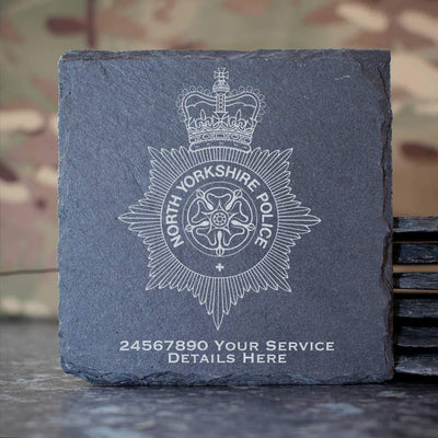 North Yorkshire Police Slate Coaster