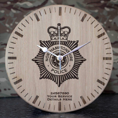 Northamptonshire Police Oak Clock