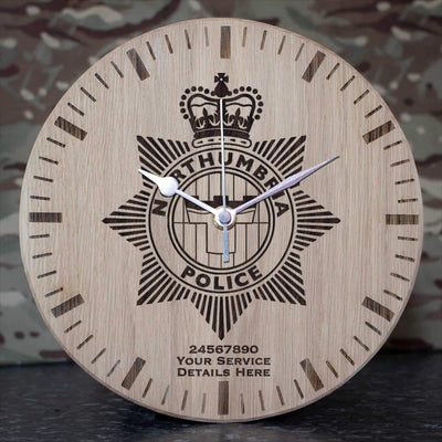 Northumbria Police Oak Clock