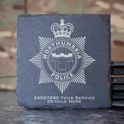 Northumbria Police Slate Coaster