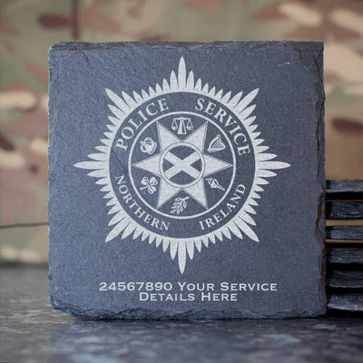 Police Service Northern Ireland Slate Coaster