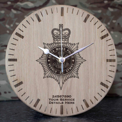 South Wales Police Oak Clock