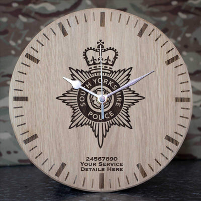 South Yorkshire Police Oak Clock