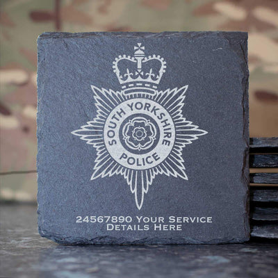 South Yorkshire Police Slate Coaster