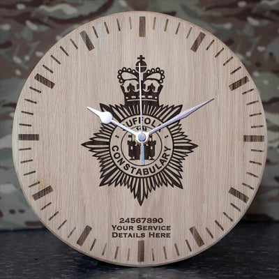 Suffolk Police Oak Clock
