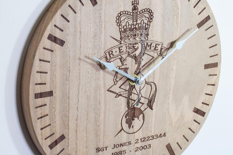 Oak Clock Detail 1