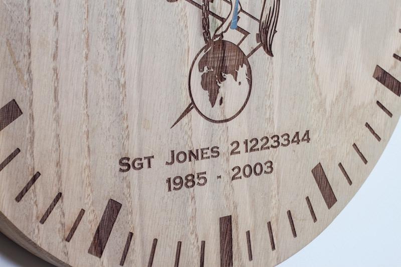 Oak Clock Detail 3