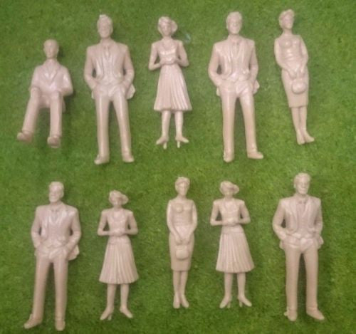 1:30 Scale Model Figures - Painted or Unpainted - Pack of 5, 10 or 20